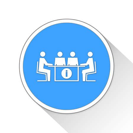 sentarse: Meeting Button Icon Concept No.13375