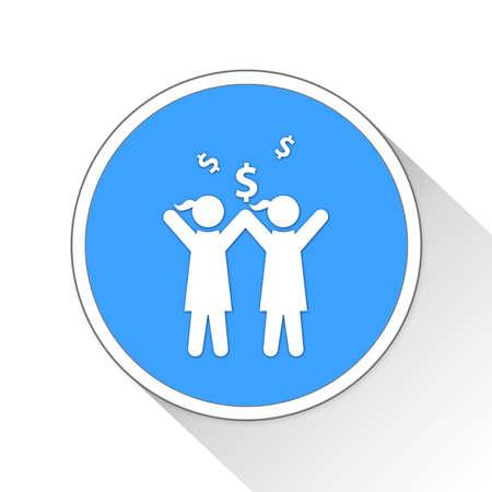 earn money: earn money Button Icon Concept No.14402