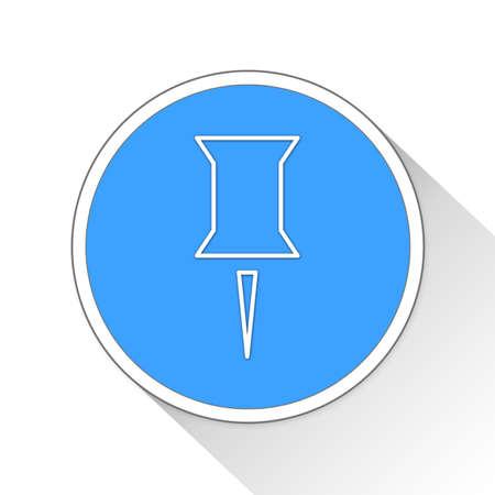 tack: thumb tack Button Icon Concept No.7344