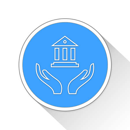 checking account: banking Button Icon Concept No.8841