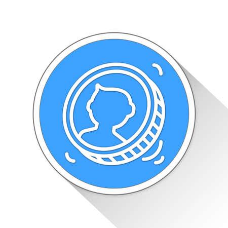 toss: coin toss Button Icon Concept No.10739 Stock Photo