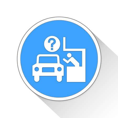 drive-through Button Icon Concept No.13002