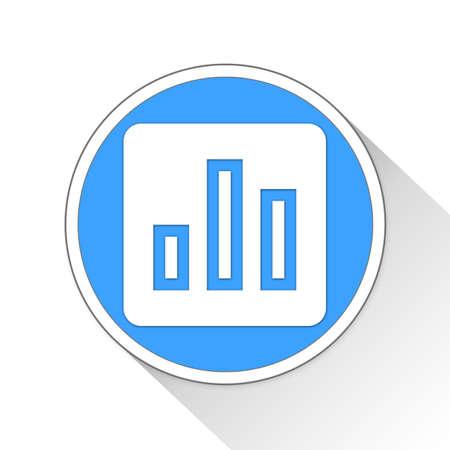 bar chart Button Icon Concept No.10250 Stock Photo