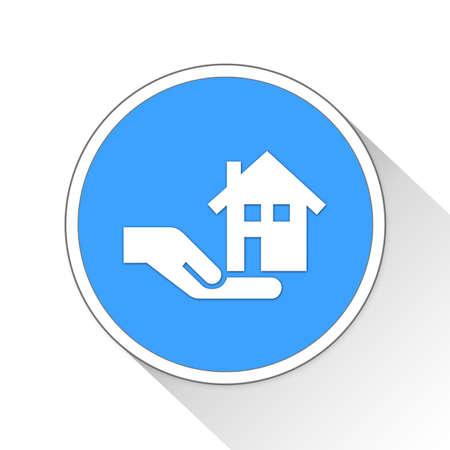renting: Real Estate Button Icon Concept No.13947 Stock Photo