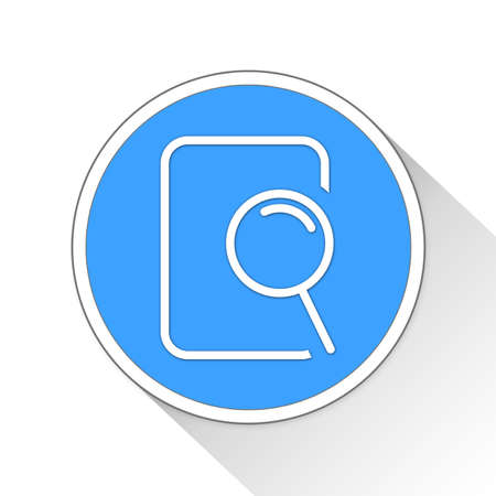 throb: search file Button Icon Concept No.11659