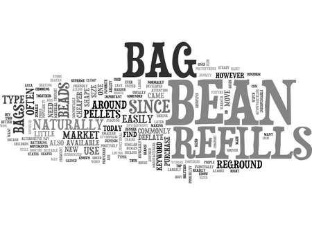 BEAN BAG REFILLS TEXT WORD CLOUD CONCEPT