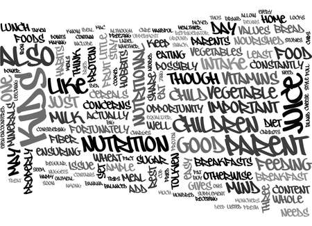 A BALANCED DIET FOR YOUR KIDS TEXT WORD CLOUD CONCEPT Illustration