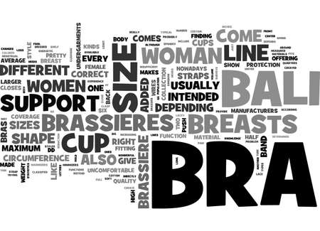 A BALI BRA JUST FOR YOU TEXT WORD CLOUD CONCEPT