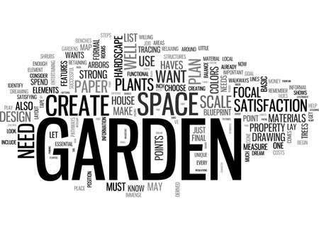 A BEAUTIFUL GARDEN IS A WORK OF HEART TEXT WORD CLOUD CONCEPT Illustration