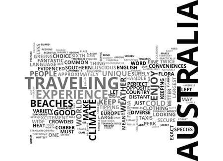 conveniences: BEAT THE HEAT IN AUSTRALIA TEXT WORD CLOUD CONCEPT Illustration