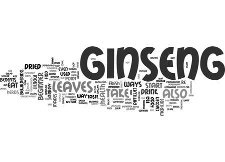 A BEGINNER S GUIDE TO GINSENG TEXT WORD CLOUD CONCEPT
