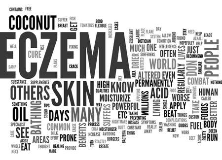 BEAT YOUR ECZEMA SKIN DISEASE NOW TEXT WORD CLOUD CONCEPT