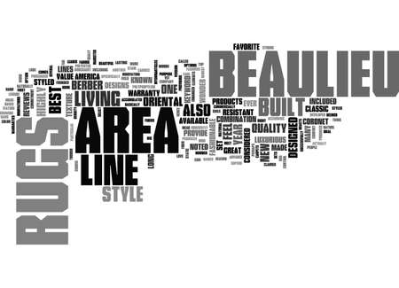 BEAULIEU AREA RUGS TEXT WORD CLOUD CONCEPT