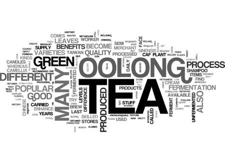 A BEGINNERS GUIDE TO OOLONG TEA TEXT WORD CLOUD CONCEPT