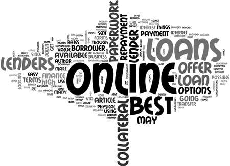 A BEGINNERS GUIDE TO THE BEST ONLINE LOANS TEXT WORD CLOUD CONCEPT