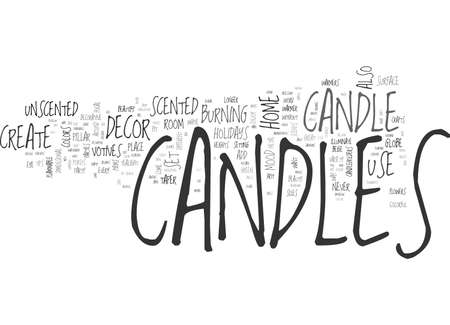 BEAUTIFY AND ADD FRAGRANCE TO YOUR HOME DECOR WITH CANDLES TEXT WORD CLOUD CONCEPT