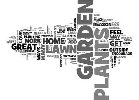 BEAUTIFY WITH GARDEN PLANTS TEXT WORD CLOUD CONCEPT
