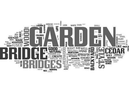 BEAUTIFY YOUR GARDEN WITH A BRIDGE TEXT WORD CLOUD CONCEPT
