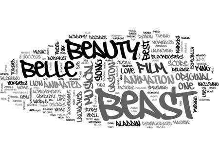 BEAUTY AND THE BEAST DVD REVIEW TEXT WORD CLOUD CONCEPT
