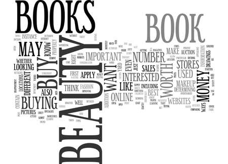 BEAUTY BOOKS ARE THEY WORTH YOUR MONEY TEXT WORD CLOUD CONCEPT