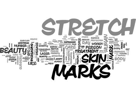 BEAUTY CONSCIOUSNESS AND STRETCH MARKS TEXT WORD CLOUD CONCEPT
