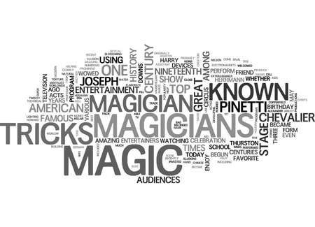 mentalist: A BIT OF THE HISTORY OF MAGIC TEXT WORD CLOUD CONCEPT