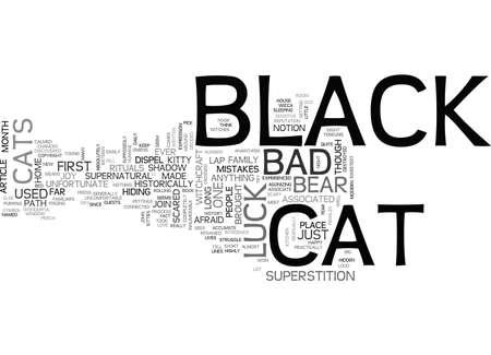 A BLACK CAT IS JUST A CAT TEXT WORD CLOUD CONCEPT Illustration