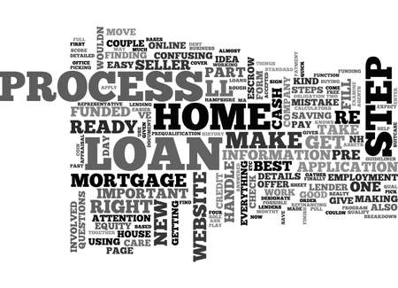 A BREAKDOWN OF THE LOAN PROCESS TEXT WORD CLOUD CONCEPT
