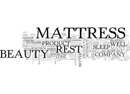 appropriately: BEAUTY REST MATTRESS TEXT WORD CLOUD CONCEPT Illustration