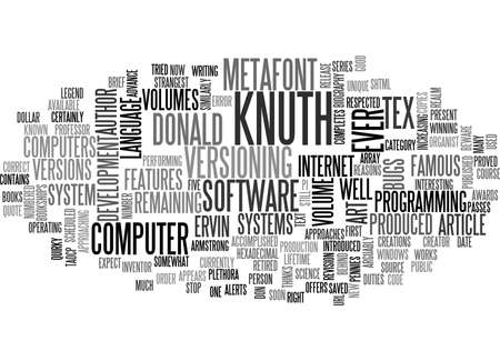A BRIEF BIOGRAPHY OF DONALD ERVIN KNUTH PRESENT TEXT WORD CLOUD CONCEPT