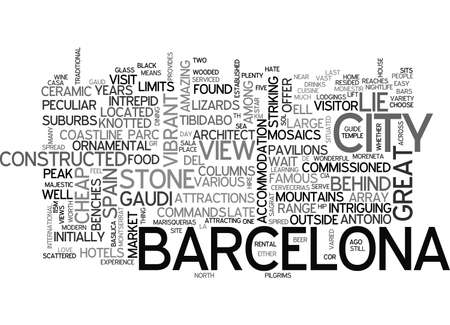 A BRIEF GUIDE TO BARCELONA TEXT WORD CLOUD CONCEPT