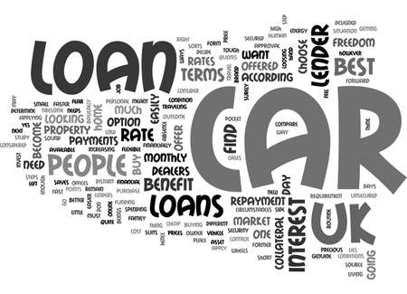 BECOME A CAR OWNER WITH CAR LOAN IN UK TEXT WORD CLOUD CONCEPT Ilustração