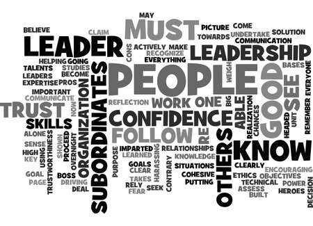 BECOME A LEADER TEXT WORD CLOUD CONCEPT Illustration