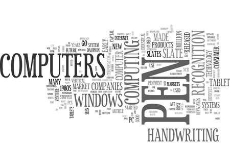 A BRIEF HISTORY OF TABLET PCS TEXT WORD CLOUD CONCEPT Çizim