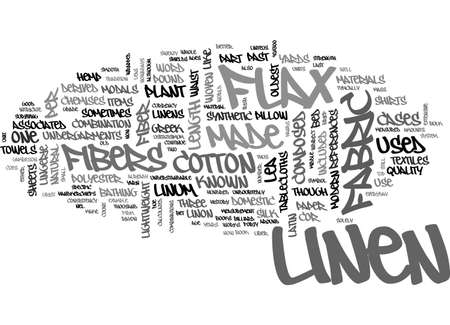 A BRIEF HISTORY OF THE LINENS YOU USE EVERYDAY TEXT WORD CLOUD CONCEPT