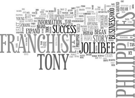 looked: A BUSINESS FRANCHISE PHILIPPINES SUCCESS STORY TEXT WORD CLOUD CONCEPT Illustration
