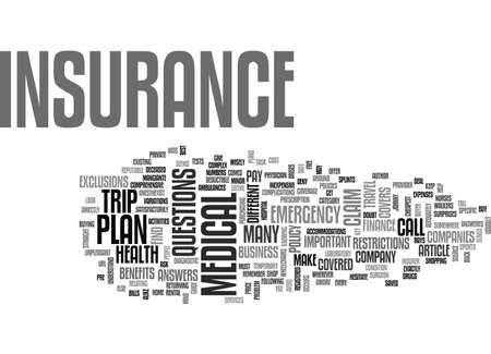 A BUYER S GUIDE TO MEDICAL INSURANCE TEXT WORD CLOUD CONCEPT Çizim