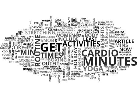 A CARDIO SNOB S WORKOUT TEXT WORD CLOUD CONCEPT Çizim