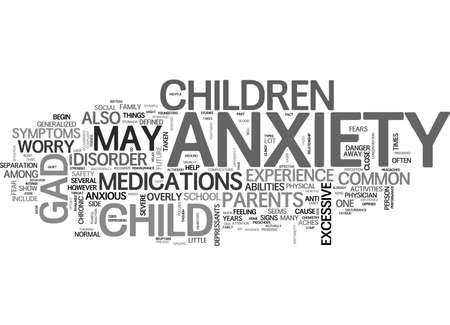A CLOSE ENCOUNTER WITH GAD TEXT WORD CLOUD CONCEPT Illustration