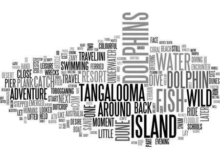 A CLOSE ENCOUNTER WITH WILD DOLPHINS TEXT WORD CLOUD CONCEPT