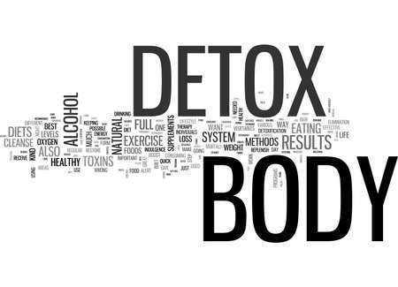 indulgence: A FULL BODY DETOX TEXT WORD CLOUD CONCEPT