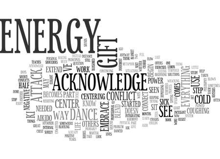 aside: A GIFT OF ENERGY TEXT WORD CLOUD CONCEPT Illustration