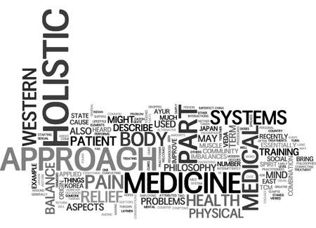 A GLIMPSE INTO THE HOLISTIC APPROACH TO MEDICINE TEXT WORD CLOUD CONCEPT