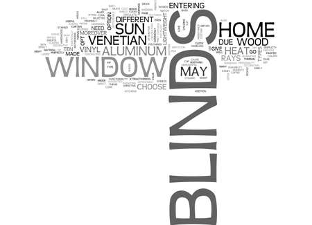 A GLIMPSE ON WINDOW BLINDS TEXT WORD CLOUD CONCEPT