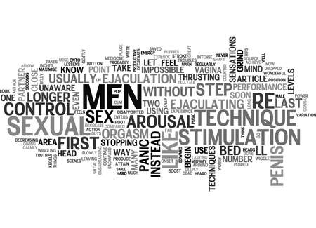 A GREAT WAY TO LAST LONGER IN BED THAT OF MEN HAVE NEVER EVEN TRIED TEXT WORD CLOUD CONCEPT Illustration