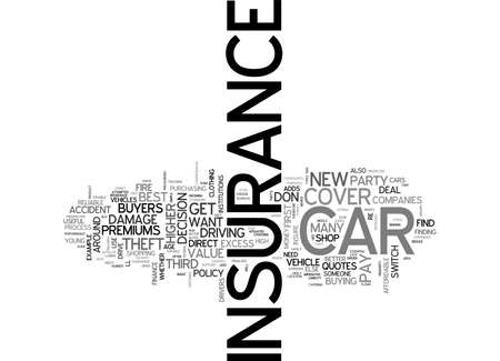 A GUIDE TO CAR AND MOTOR INSURANCE TEXT WORD CLOUD CONCEPT