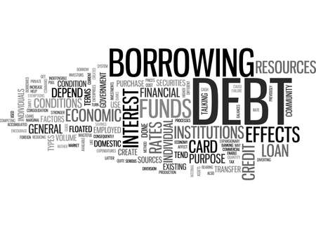 A GUIDE TO CREDIT CARD DEBT TEXT WORD CLOUD CONCEPT Illustration