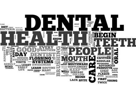 A GUIDE TO DENTAL HEALTH TEXT WORD CLOUD CONCEPT