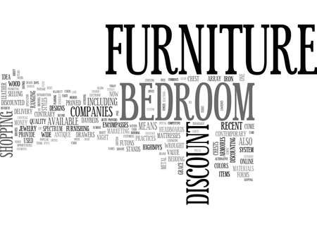 selections: A GUIDE TO DISCOUNT BEDROOM FURNITURE TEXT WORD CLOUD CONCEPT