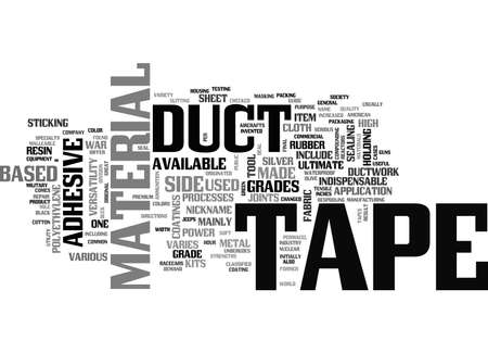 A GUIDE TO DUCT TAPE TEXT WORD CLOUD CONCEPT